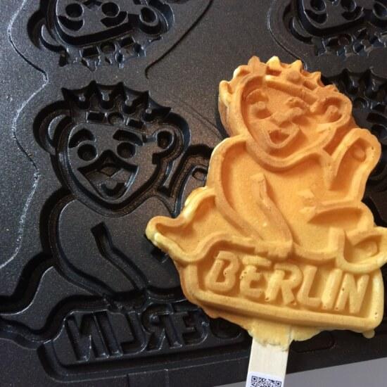 Berliner Bär Waffel am Stiel