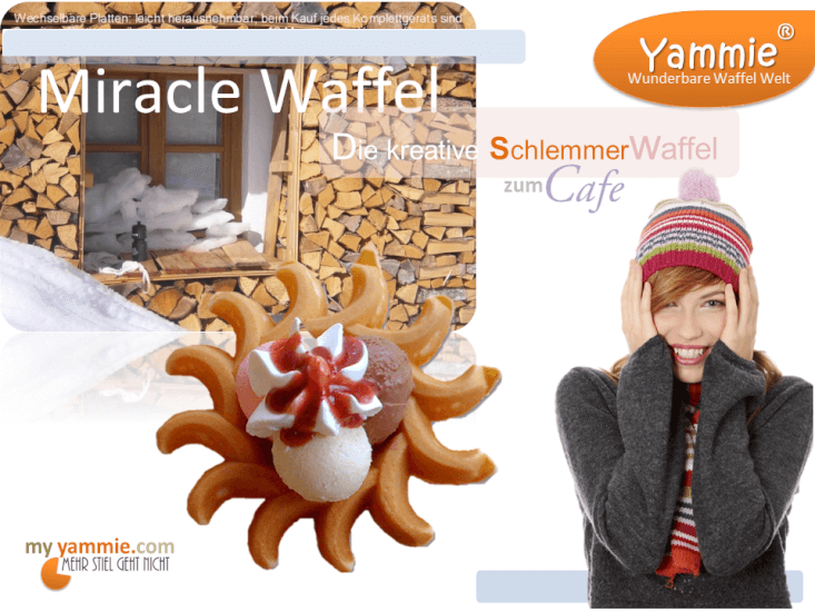 Miracle Waffel ideal für Coffeebars